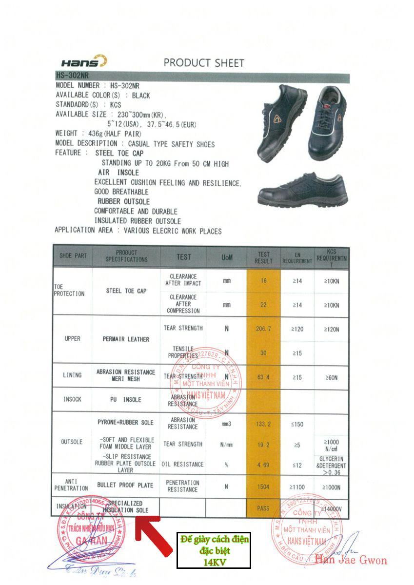Giày bảo hộ hs302NR