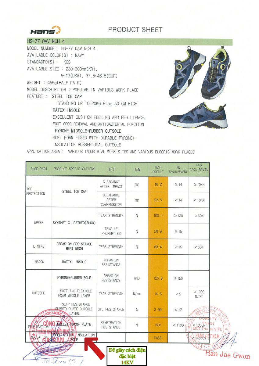 Đế giày cách điện HS77