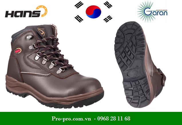 Giày Bảo Hộ Cao Cổ Da Bò Thật Hans HS-05-2-Sherpa, 6 inch nhập khẩu Hàn Quốc