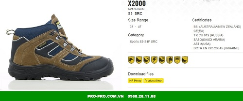 Giày jogger X2000 S3 là sản phẩm cao cấp dành cho quản lí