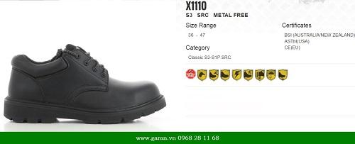 Giày bảo hộ jogger X1110 với khả năng chống lực, điện, trượt tốt