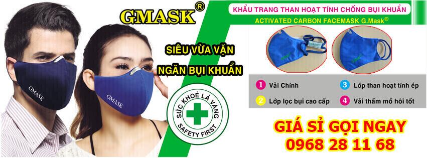 Khẩu trang than hoạt tính Gmask