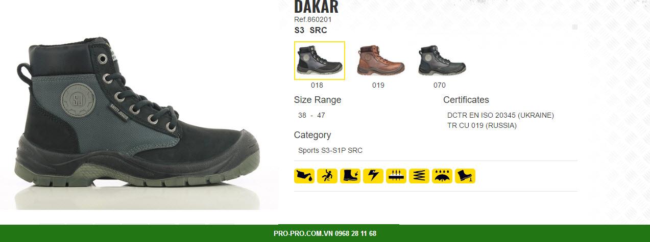 giày bảo hộ safety jogger dakar s3 kiểu dáng sang trọng