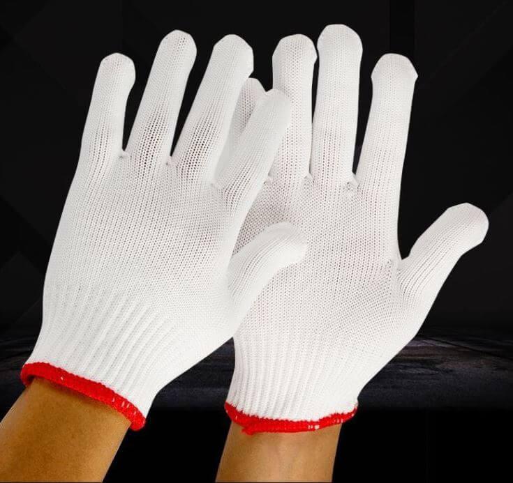 găng tay bảo hộ sợi len poly