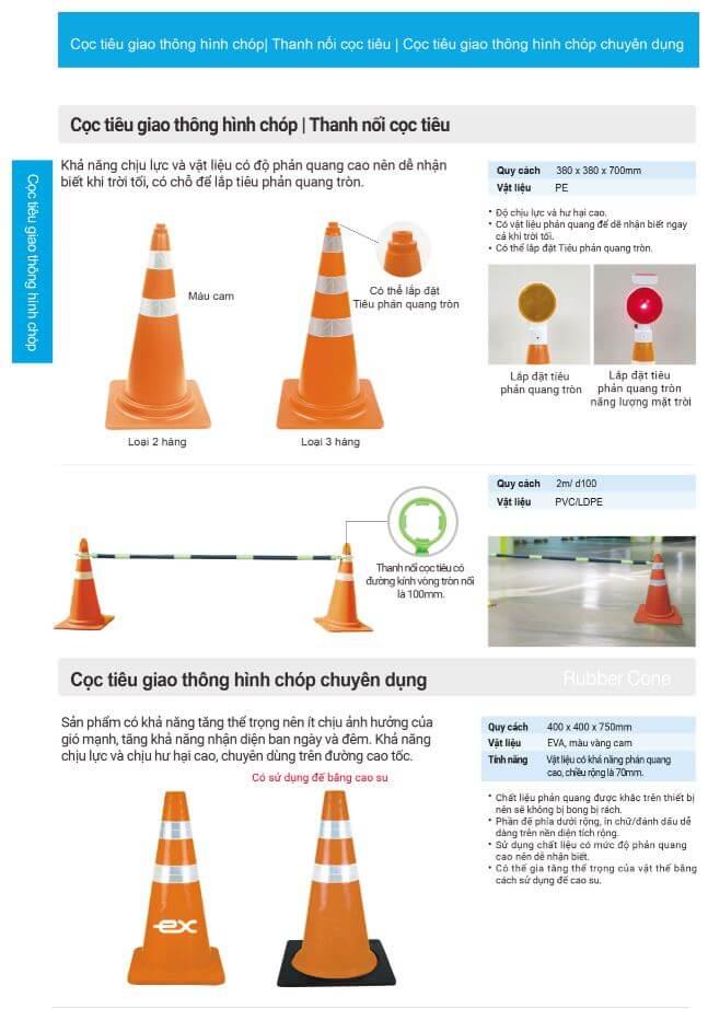 Cọc tiêu giao thông hình chóp