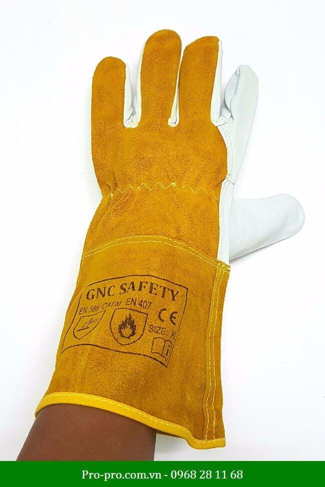 Găng Tay Da Hàn Tig GNC Safety mềm mại
