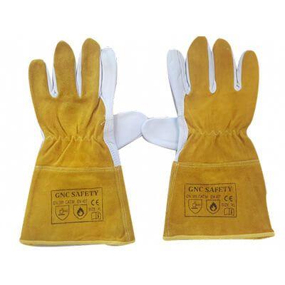 Găng Tay Da Hàn Tig GNC Safety Màu Vàng