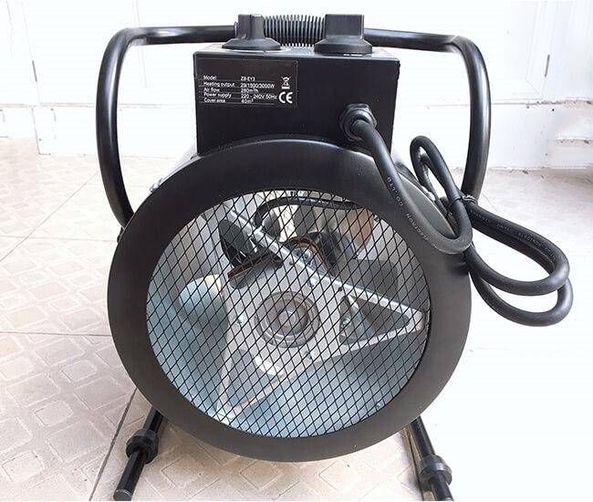 máy sấy gió nóng 3kw dạng tròn