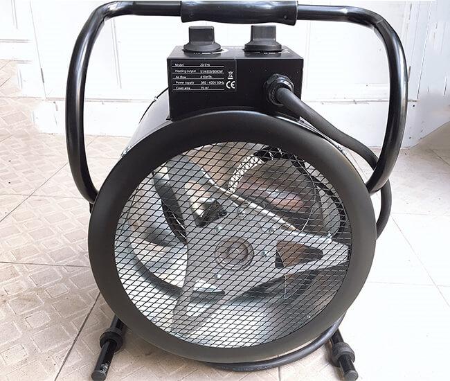 máy sấy gió nóng bằng điện trở công nghiệp 9kw.h có quạt gió nóng