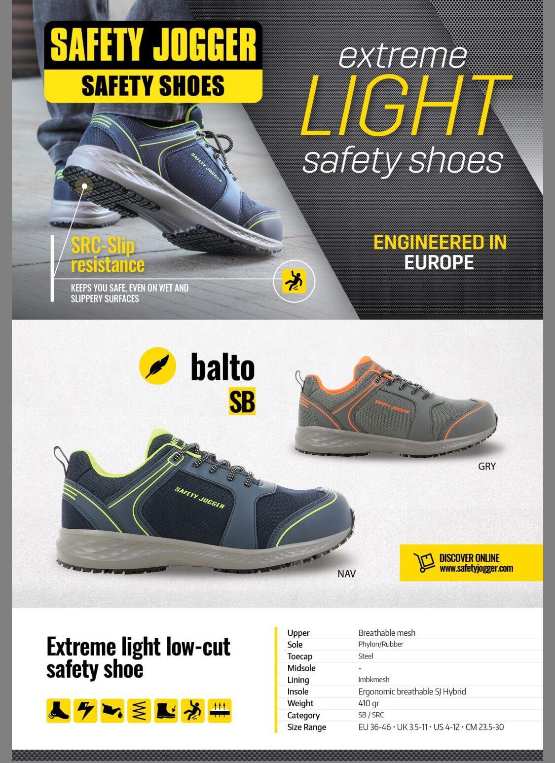 Giày Bảo Hộ Jogger Balto S1 SRC
